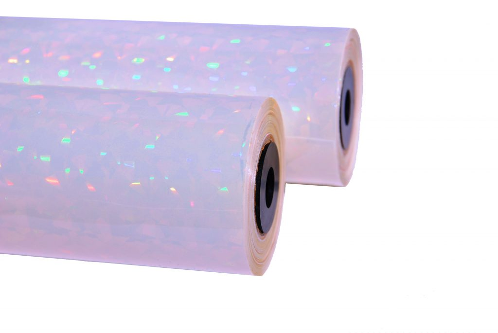 HOLOGRAPHIC FOIL SELF ADHESIVE COLOUR TAPE /& DISPENSER GIFT WRAP WRAPPING